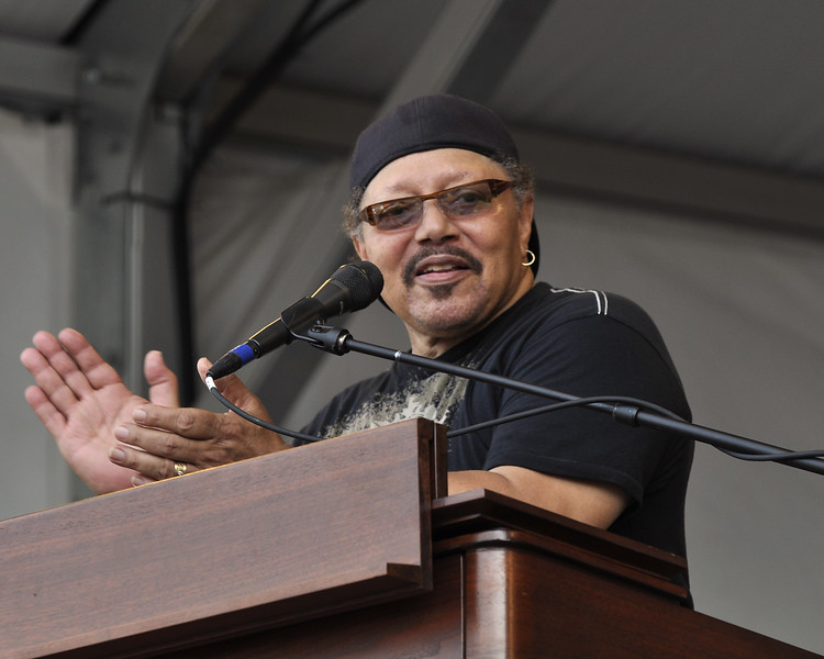 NEW ORLEANS, LA-APRIL 24: Art Neville performs with the Funky Meters on the Acura Stage at the New Orleans Jazz & Heritage Festival on April 24, 2010. (Photo by Clayton Call/Redferns)