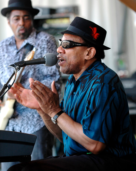 Henry Butler performs at the New Orleans Jazz & Heritage Festival on April 28, 2007.
