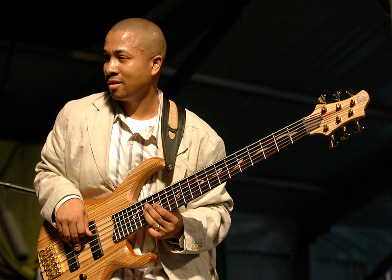 Roland Guerin perfoming at the New Orleans Jazz & Heritage Festival on May 5, 2006.
