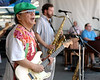 June Yamagishi, Jason Mingedorf and John Gros perform with Papa Grows Funk at the New Orleans Jazz & Heritage Festival on May 6, 2007.