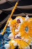The Wild Magnoias Mardi Gras Indians performing live at the New Orleans Jazz & Heritage Festival on May 4, 2008.