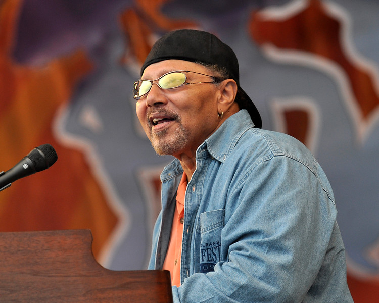 Art Neville performing with the Neville Brothers at the New Orleans Jazz & Heritage Festival on May 3, 2009,