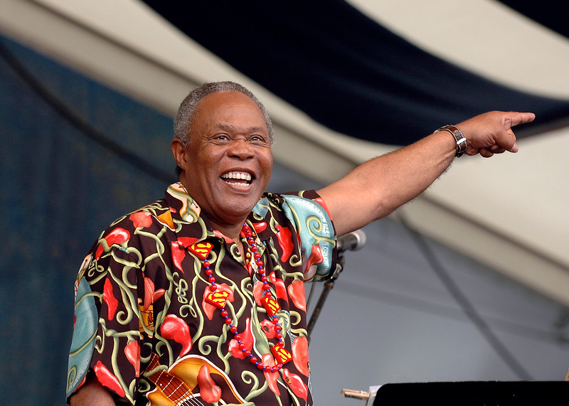 Sam Moore perfoming at the New Orleans Jazz & Heritage Festival on May 7, 2006.