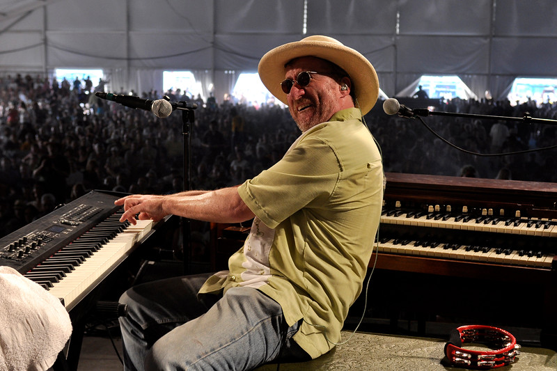 Jon Cleary performing with John Scofield and the Piety St. Band at the New Orleans Jazz & Heritage Festival on May 1, 2009.