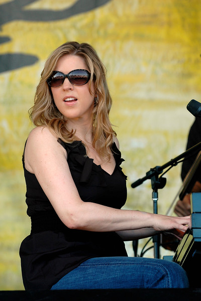Diana Krall performing at the New Orleans Jazz & Heritage Festival on May 3, 2008.