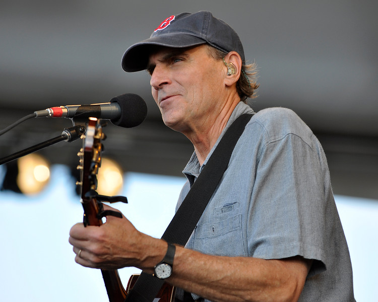 James Taylor performing at the New Orleans Jazz & Heritage Festival on April 25, 2009.