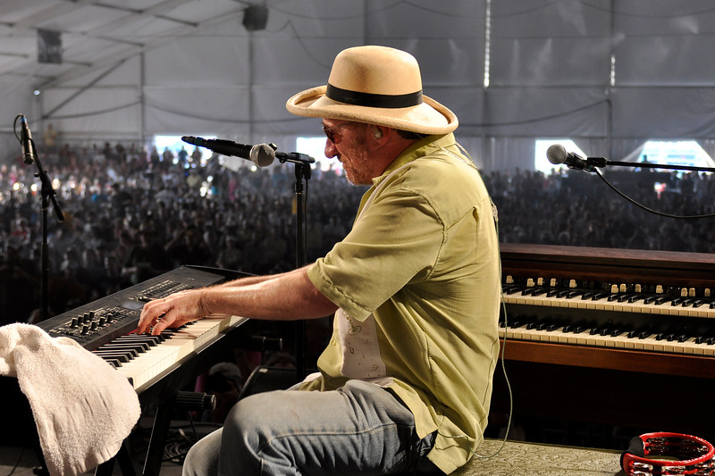 Jon Cleary performing with John Scofield and the Piety St. Band at the New Orleans Jazz & Heritage Festival on May 1, 2009