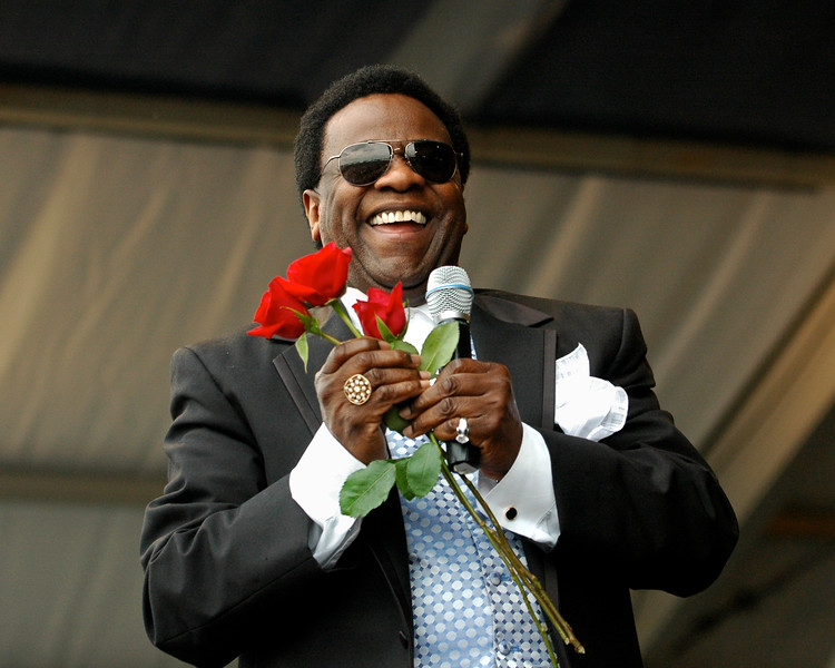 Al Green performing at the New Orleans Jazz & Heritage Festival on April 27, 2008.