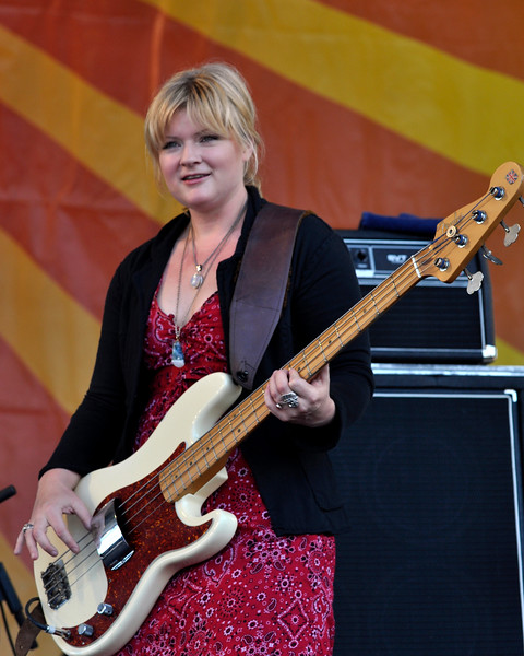 Shonna Tucker performing live with Drive-By Truckers at the New Orleans Jazz & Heritage Festival on April 25, 2009.