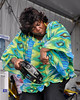 """NEW ORLEANS, LA-APRIL 24: Rosalie Washington, """"The Tambourine Lady of New Orleans"""" performs with the Midnite Disturbers at the New Orleans Jazz & Heritage Festival on April 24, 2010. (Photo by Clayton Call/Redferns)"""