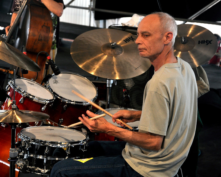 Johnny Vidacovich performs with Astral Project at the New Orleans Jazz & Heritage Festival on April 25, 2009.
