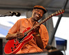 "NEW ORLEANS, LA-APRIL 23: Walter ""Wolfman"" Washington performs with the Joe Krown Trio at the New Orleans Jazz & Heritage Festival on April 23, 2010.  (Photo by Clayton Call/Redferns)"