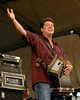 Wayne Toups and Zydecajun performing live on stage at the New Orleans Jazz & Heritage Festival on April 26, 2008.