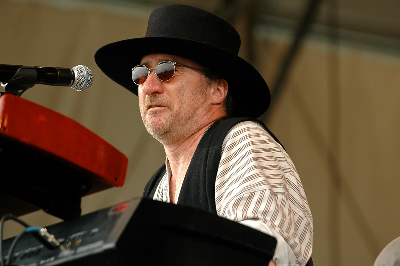 Jon Cleary & the Absolute Monster Gentlemen performing at the New Orleans Jazz & Heritage Festival on April 26, 2008.
