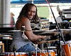 "Desmond ""Milk"" Williams performing with Big Sam's Funky Nation at the New Orleans Jazz & Heritage Festival on April 25, 2009."