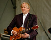 T-Bone Burnett performing with Robert Plant & Alison Krause at the New Orleans Jazz & Heritage Festival on April 25, 2008.