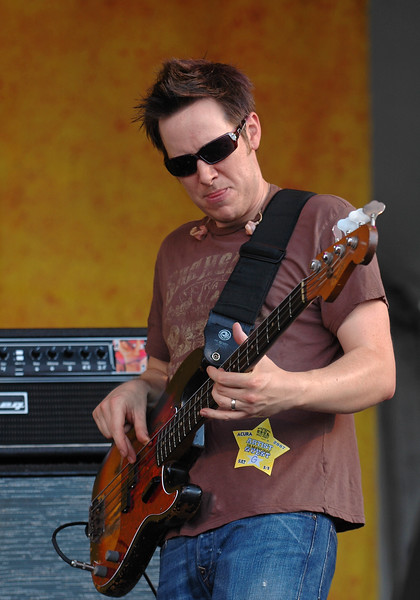 Rob Mercurio performs with Galactic at the New Orleans Jazz  & Heritage Festival on May 5, 2007.