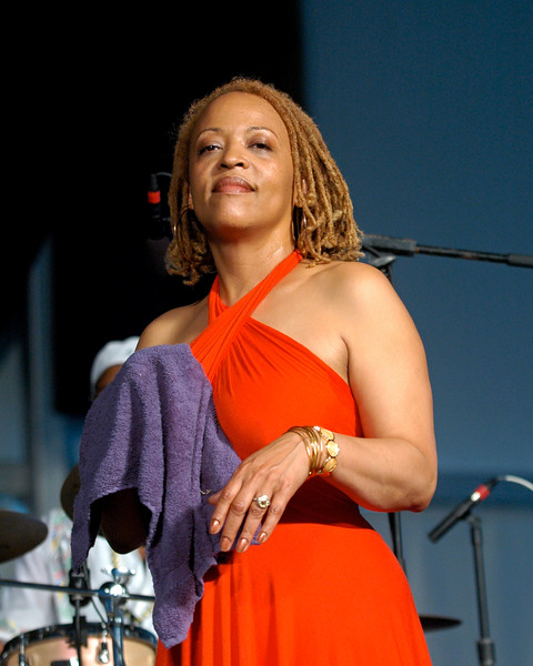 Cassandra Wilson performing at the New Orleans Jazz & Heritage Festival on April 27, 2008.