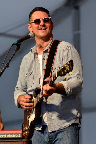 NEW ORLEANS, LA-APRIL 27: Eric Lindell performs at the New Orleans Jazz & Heritage Festival in New Orleans, LA on April 27, 2012. (Photo by Clayton Call/Redferns)