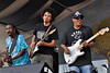Ivan Neville's Dumpstaphunk performing live at the New Orleans Jazz & Heritage Festival on April 25, 2009. (l-r): Nick Daniels, Ian Neville, Ivan Neville.