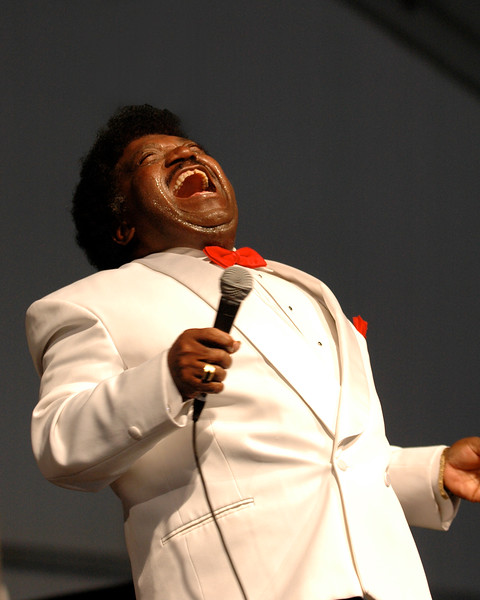 Percy Sledge performs at the New Orleans Jazz & Heritage Festival on April 27, 2007.