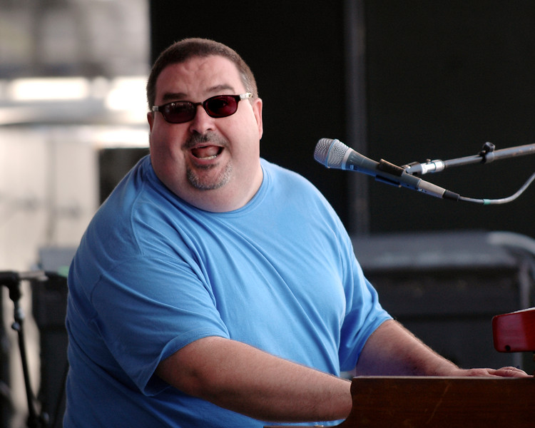 John Gros performs with Papa Grows Funk at the New Orleans Jazz & Heritage Festival on May 6, 2007.