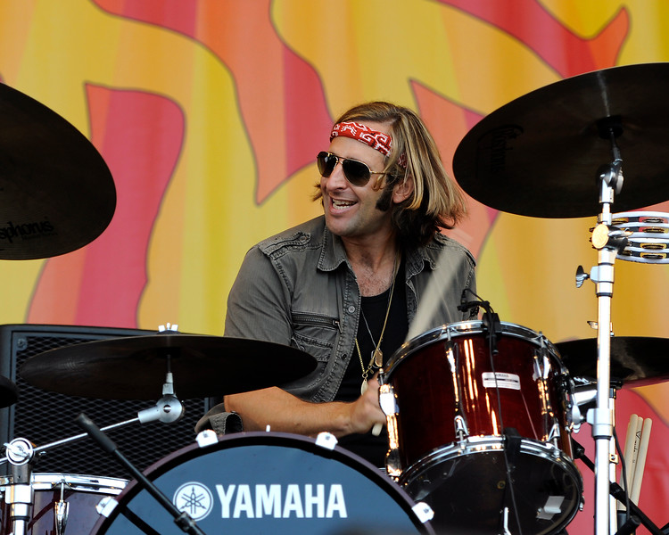 NEW ORLEANS, LA-May 4: Matthew Burr performs with Grace Potter & the Nocturnals at the New Orleans Jazz & Heritage Festival in New Orleans, LA on May 4, 2012.