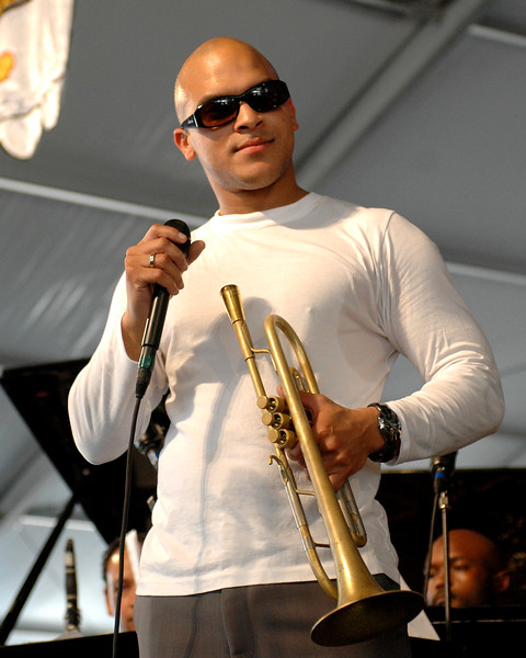 Irvin Mayfield performs at the New Orleans Jazz & Heritage Festival on April 29, 2007.