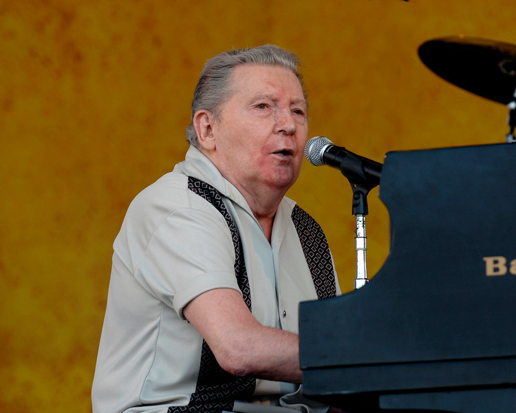 Jerry Lee Lewis performs at the New Orleans Jazz & Heritage Festival on April 29, 2007.