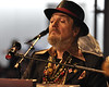 NEW ORLEANS, LA-APRIL 24: Dr. John perform with Davell Crawford in the Blues Tent at the New Orleans Jazz & Heritage Festival on April 24, 2010. (Photo by Clayton Call/Redferns)