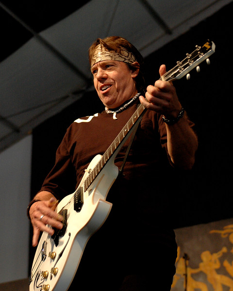 George Thorogood performs in the Blues Tent at the New Orleans Jazz & Heritage Festival on April 29, 2007.