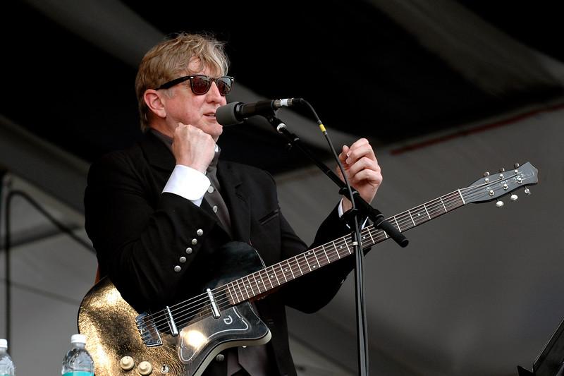 T-Bone Burnett performs at the New Orleans Jazz & Heritage Festival on April 27, 2007.
