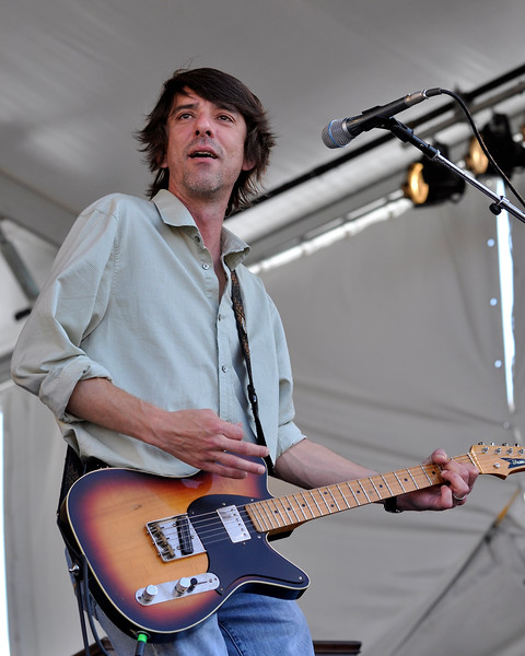 Mike Cooley performing live with Drive-By Truckers at the New Orleans Jazz & Heritage Festival on April 25, 2009.