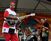 The Meter Men performing live at the New Orleans Jazz & Heritage Festival on April30, 2009. (L-R): Leo Nocentelli, Zigaboo Modeliste and George Porter, Jr.