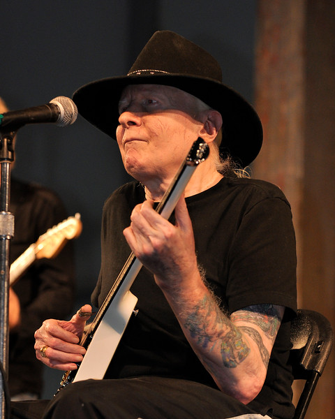 Johnny Winter performing at the New Orleans Jazz & Heritage Festival on April 25, 2009.