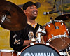 NEW ORLEANS, LA-APRIL 23: Russell Batiste performs with the Joe Krown Trio at the New Orleans Jazz & Heritage Festival on April 23, 2010. (Photo by Clayton Call/Redferns)