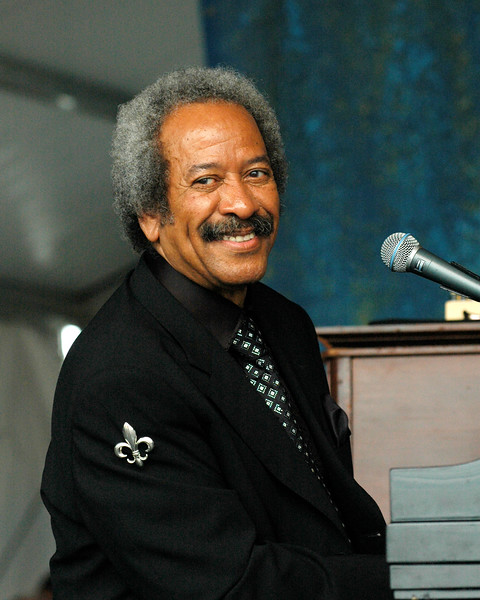 Allen Toussaint performing with Elvis Costello and the Imposters at the New Orleans Jazz & Heritage Festival on April 27, 2008.