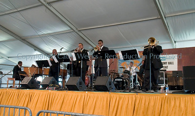 At the Economy Hall Tent @ Jazz Fest.