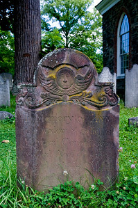 Interesting slate headstones from the legendary cemetery of Sleeping Hollow, New York.