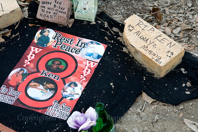 A young black youth who is one of the many victims of the New Orleans streets and guns.