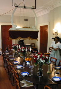 Formal dining room - Oak Alley Plantation