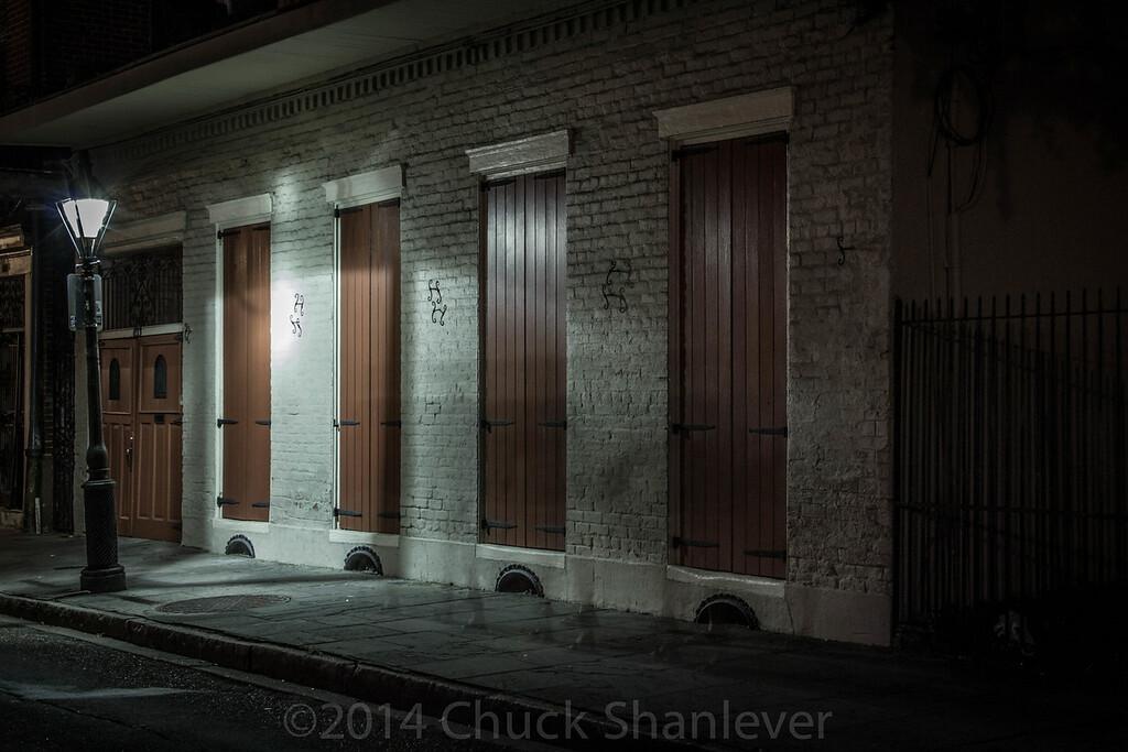 Night Street with light