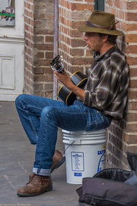 Sidewalk Blues on Burbon Street
