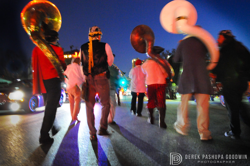 New Orleans tubas on parade