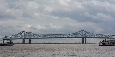 Huey P. Long Bridge Crossing the Mississippi