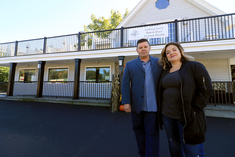 Rick Laakkonen the new owner of the Bootlegger Restaurant & Lounge in Lunenburg stands out side his new place with his General Manager Sharon Dow on Friday, October 5, 2018. SENTINEL & ENTERPRISE/JOHN LOVE