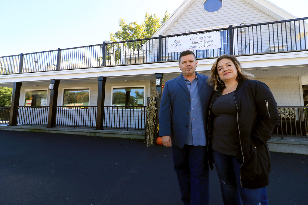 . Rick Laakkonen the new owner of the Bootlegger Restaurant & Lounge in Lunenburg stands out side his new place with his General Manager Sharon Dow on Friday, October 5, 2018. SENTINEL & ENTERPRISE/JOHN LOVE