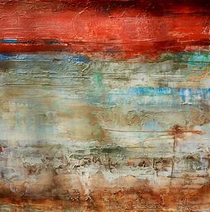 """Granite Underground 2-NN, 24""""X24"""" painting on paper"""