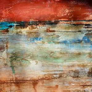 """Granite Underground 1-NN, 24""""X24"""" painting on paper"""