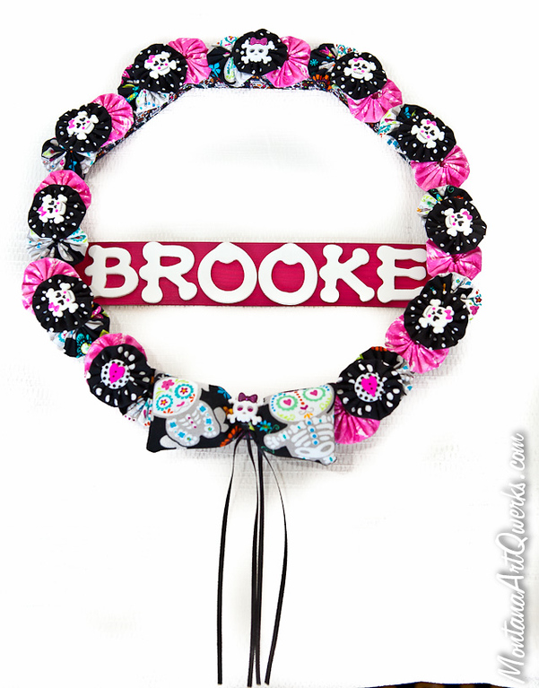 Pink and Black Baby Skulls Wreath: $27 / $30 + shipping